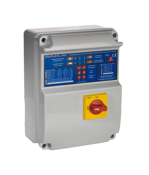 duplex dual pump control panel abs box automated environmental