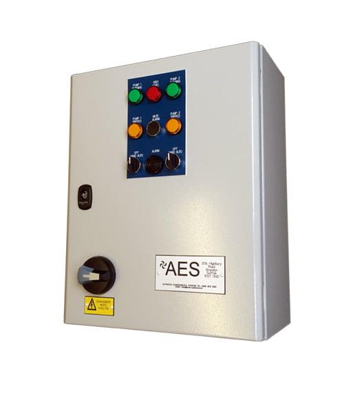 AES Dual Pump Control Panel