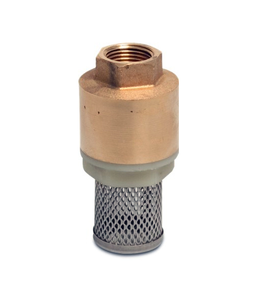 Brass Spring Check Foot Valve Automated Environmental