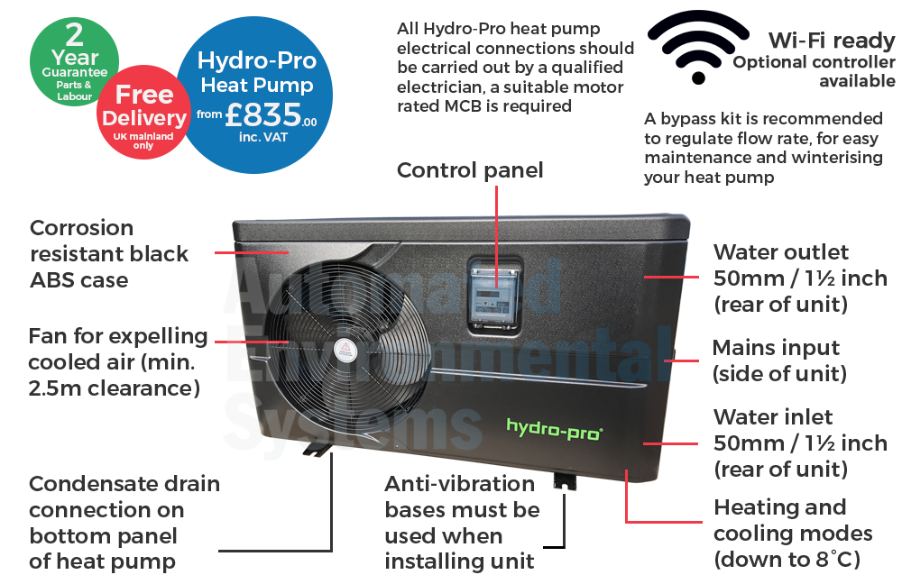 hydro pro ig pool pump wiring diagram hydro pro pool pump wiring diagram hydro-pro swimming pool heat pump - automated environmental #1