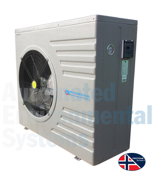 Proteam p21 swimming pool heat pump automated - Swimming pool ground source heat pump ...