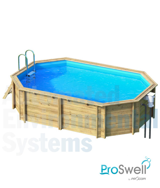 Proswell tropic above ground wooden swimming pool aes for Above ground swimming pools uk