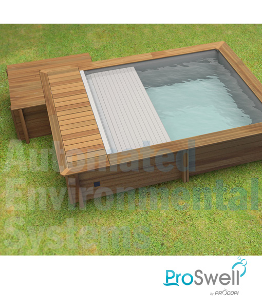 Proswell Urban Wooden Swimming Pool with Plant Housing