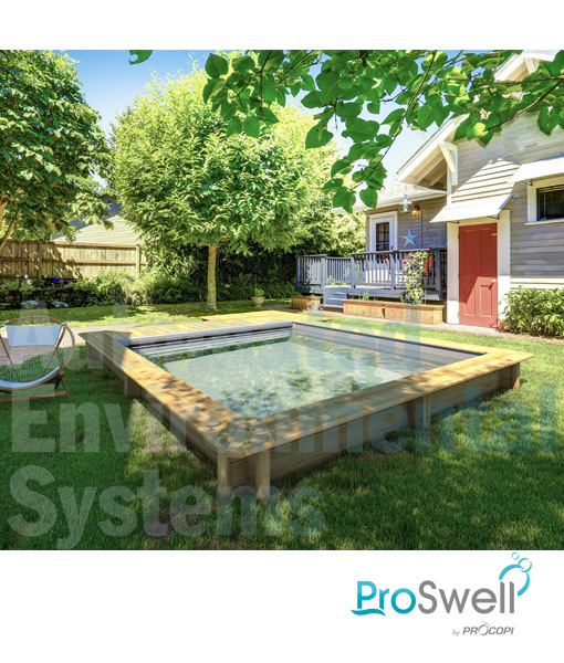 Proswell Urban Wooden Swimming Pool with Integrated Cover